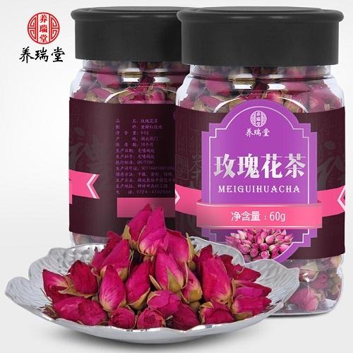 玫瑰花茶的茶坯制作